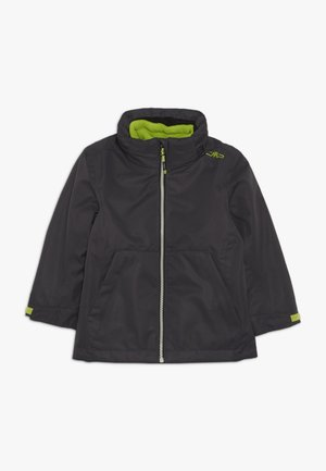 BOY JACKET FIX HODD DETACHBLE INN JACKET 2-IN-1 - Outdoorová bunda - antracite
