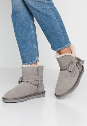 LUNA BOW BOOTIE - Classic ankle boots - gunmetal