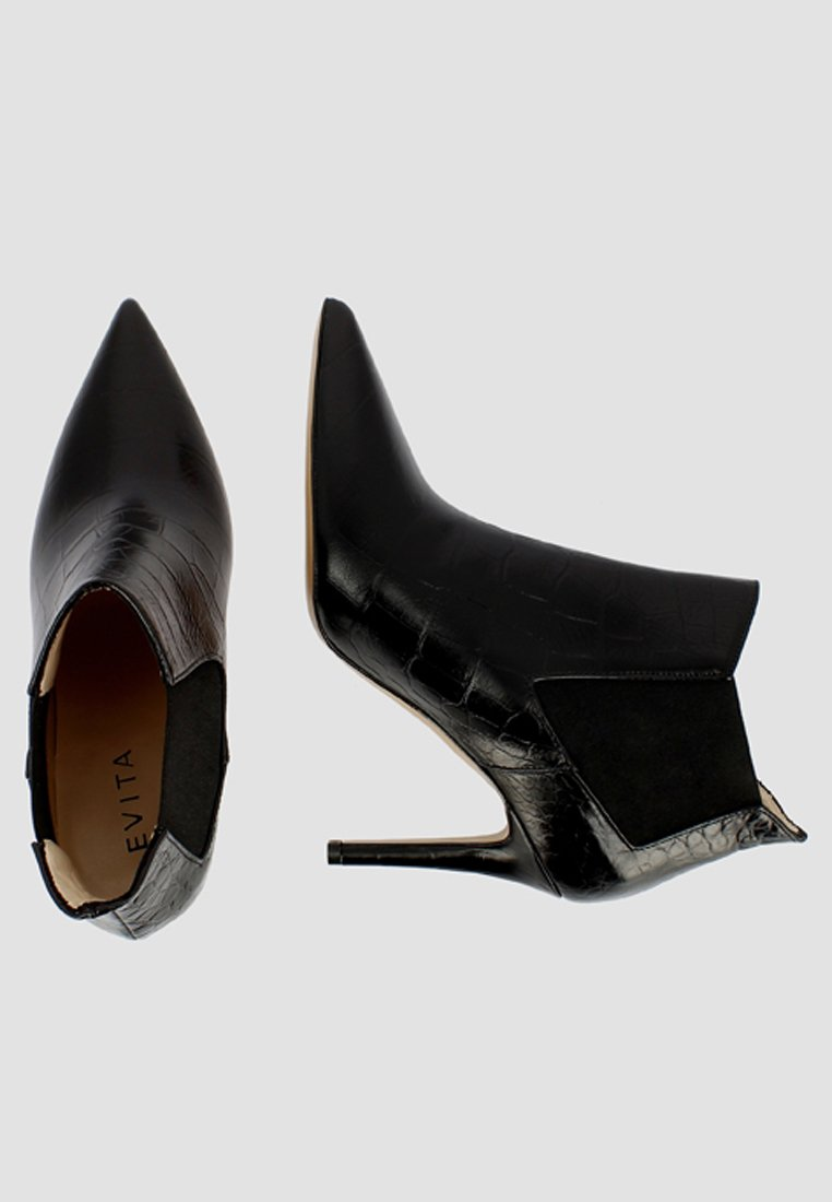 Evita NATALIA - Enkellaarsjes met hoge hak - black - Damesschoenen Leuk