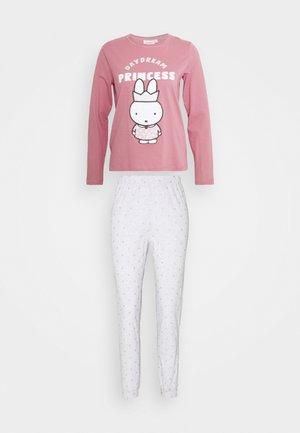 LONG SLEEVES LONG PANT SET - Pyjama - fuchsia