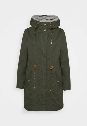WASHED - Parka - khaki green