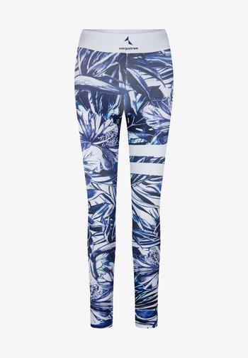 TROPICAL TIGHTS - Leggings - blue
