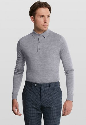 LONGSLEEVE - Polo shirt - grey