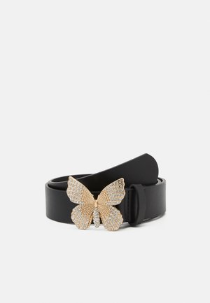 PCFLY WAIST BELT - Pasek - black/gold-coloured