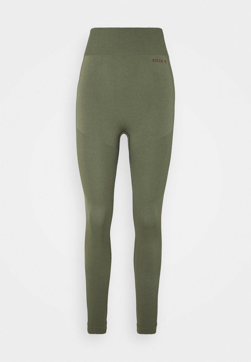 Roxy - PROUD OF BEING PANTS - Leggings - deep lichen green