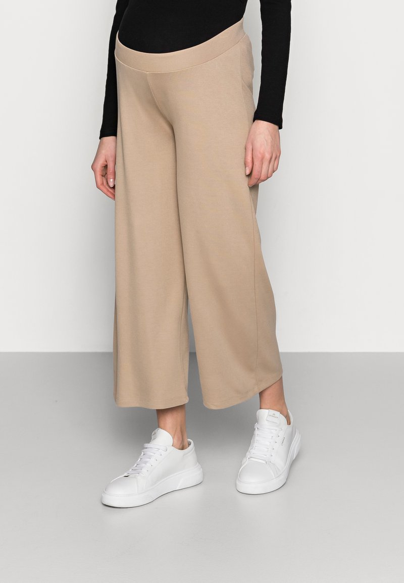 MAMALICIOUS - MLAVILDA CULOTTE PANTS - Tracksuit bottoms - natural