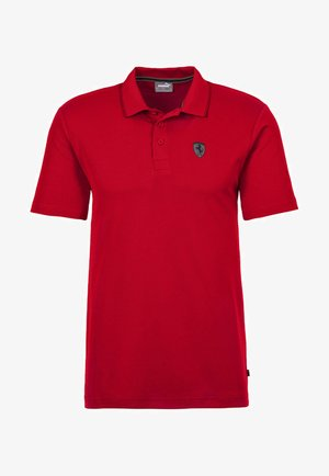 PUMA SCUDERIA FERRARI SHORT SLEEVE MEN'S POLO SHIRT MALE - Polo shirt - rosso corsa