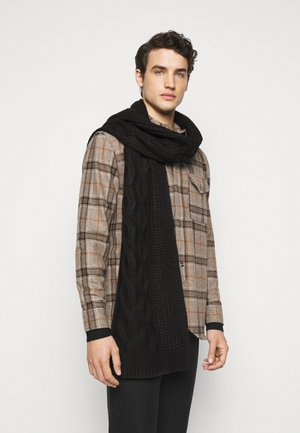 SHAKER CABLE MUFFLER UNISEX - Scarf - black