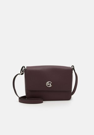 HOLD ON SHOULDERBAG - Across body bag - burgundy