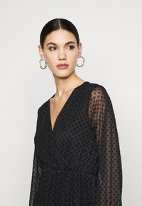 Dorothy Perkins Tall - WRAP DOBBY DRESS - Cocktail dress / Party dress - black - 3