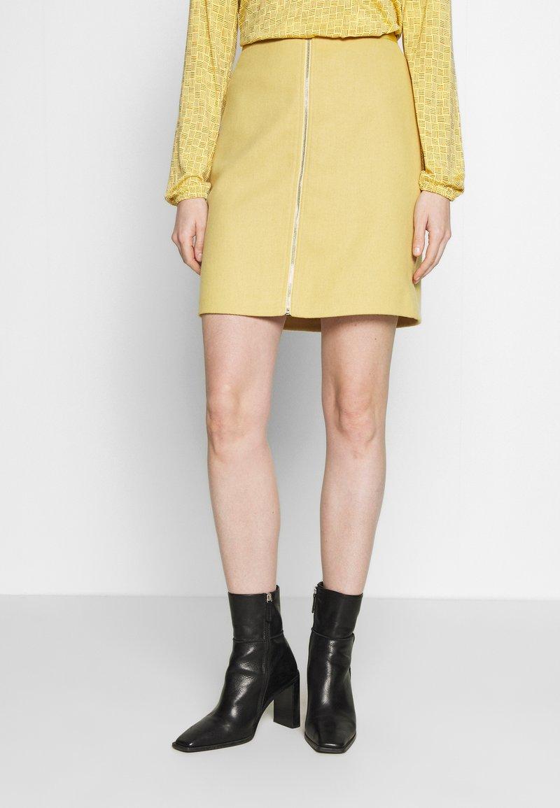 Esprit - A-line skirt - yellow