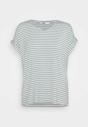 ONLMOSTER NEW O NECK - Print T-shirt - jadeite/cloud dancer