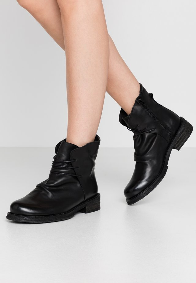 COOPER - Bottines à lacets - uraco black