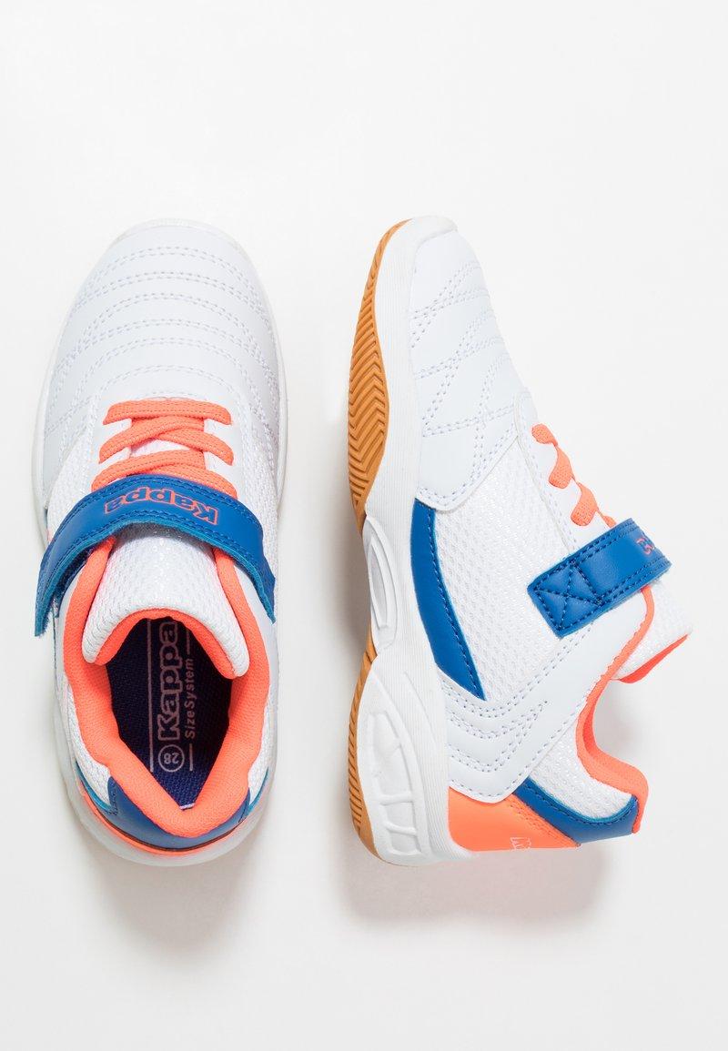 Kappa - DROUM II UNISEX - Sports shoes - white/coral