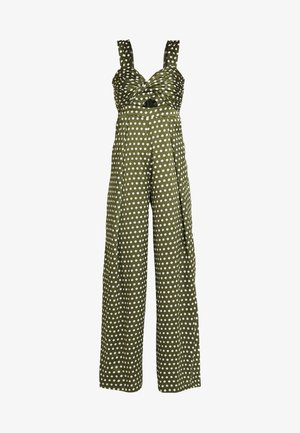 SPOT - Overall / Jumpsuit /Buksedragter - green/white