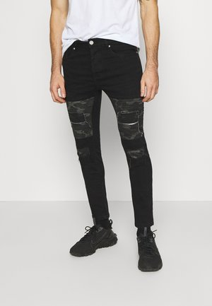 ROBBINS - Jeansy Skinny Fit - charcoal