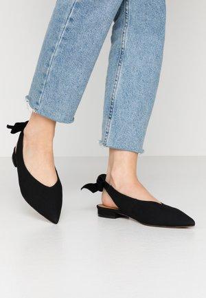 KARINE - Slingback ballet pumps - black