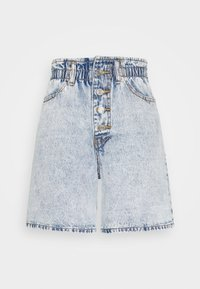 Missguided - PLEAT WAIST BAND HIGHWAISTED - Shorts di jeans - vintage - 0