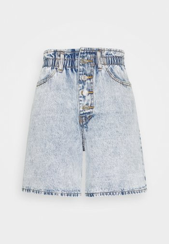 PLEAT WAIST BAND HIGHWAISTED - Shorts di jeans - vintage