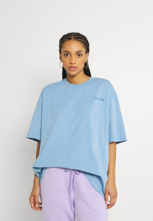 LOGO OVERSIZED TEE - Camiseta básica - dusty blue
