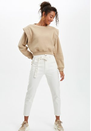 DEFACTO  WOMAN  - Trousers - ecru