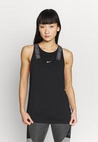 Nike Performance - W NP DRY ELSTK  - Sportshirt - black - 0