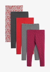 Next - 5 PACK - Leggings - Trousers - red - 0