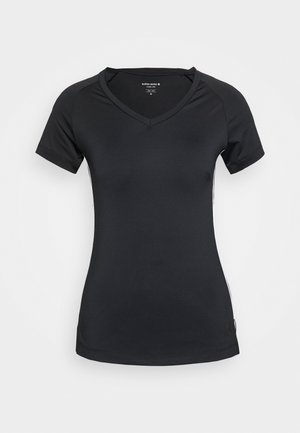 TESIA TEE - Print T-shirt - black beauty