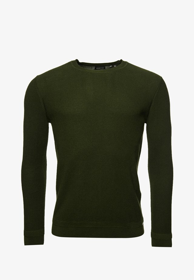 SUPIMA TEXTURED  - Maglione - dry olive green