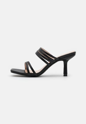 RENNIE - Heeled mules - black
