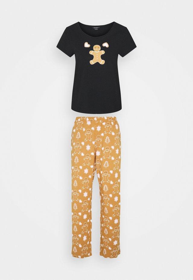 TAMRA PYAMA SET - Pyjama - black with gingerbread