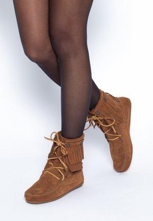 DOUBLE FRINGE  - Winter boots - marron