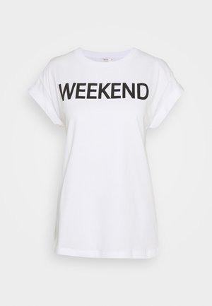 WEEKEND EVERY DAY PRINT - T-shirts med print - black