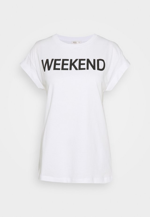 WEEKEND EVERY DAY PRINT - Print T-shirt - black