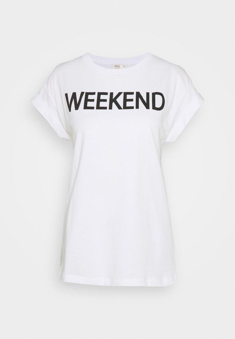 Rich & Royal - WEEKEND EVERY DAY PRINT - Print T-shirt - black