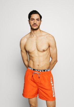 JJIARUBA JJSWIMSHORTS LOGO - Swimming shorts - flame