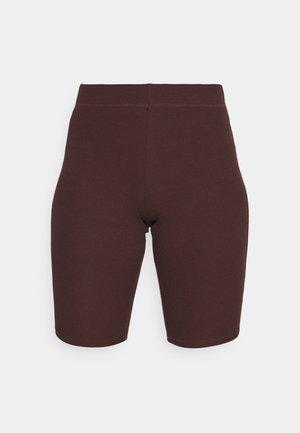 STELLA BIKER - Shorts - burgundy brown