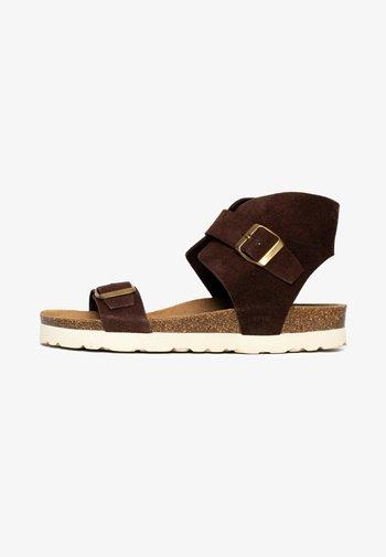 DUBBO - Platform sandals - brown