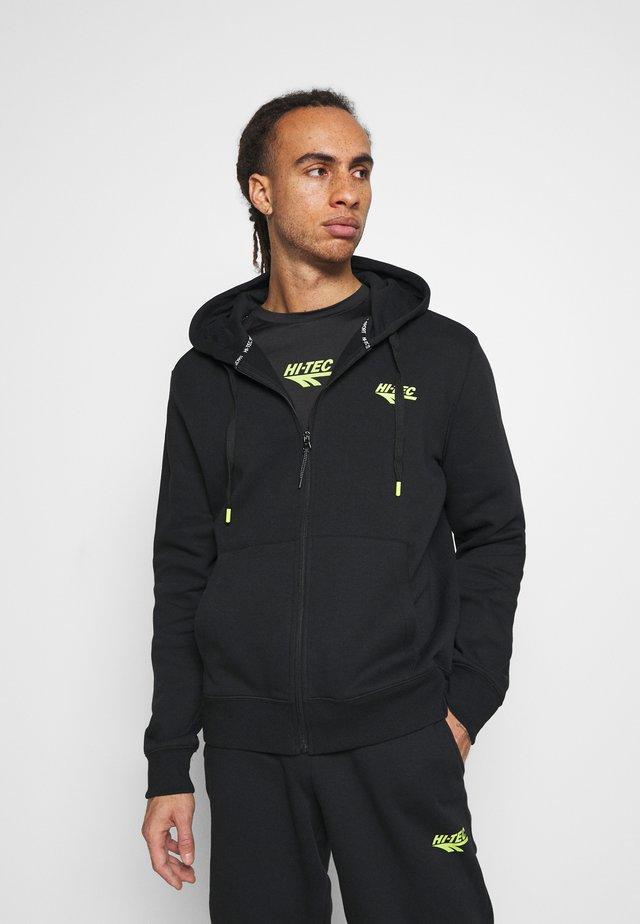 ALVAH BASIC ZIP HOODIE - Zip-up hoodie - black