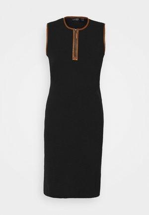 BRANDISSA SLEEVELESS DAY DRESS - Svetr - black/cuoio