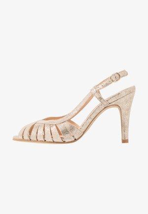 DAUTA - Sandalen met hoge hak - platine