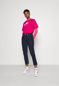 Nike Sportswear - AIR MOCK - Long sleeved top - fireberry/bright mango/white - 1