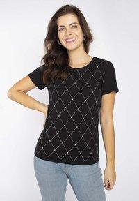 LIU JO - Print T-shirt - black - 0
