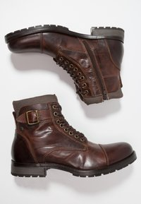 Jack & Jones - JFWALBANY - Lace-up ankle boots - brown stone - 1