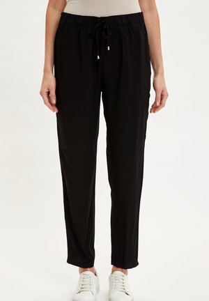 DEFACTO WOMAN BLACK - Tracksuit bottoms - black