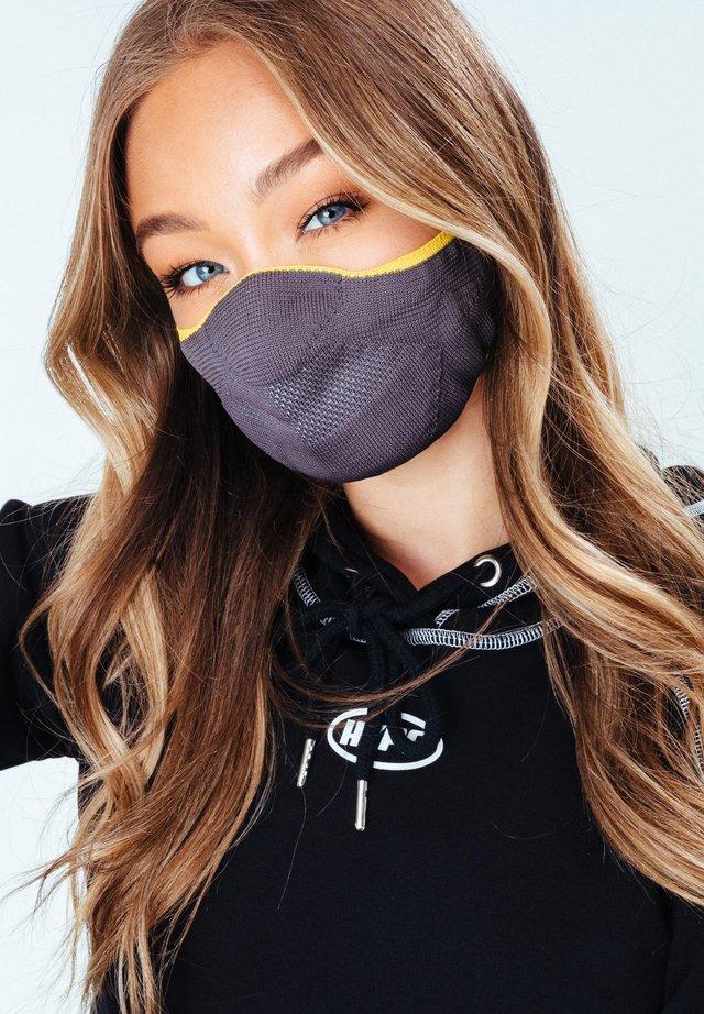 Masque en tissu - grey/yellow