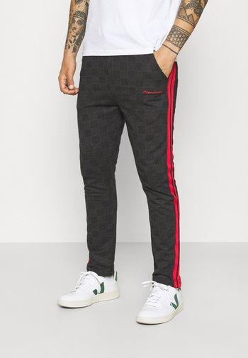 CHECK TROUSER - Pantaloni - black