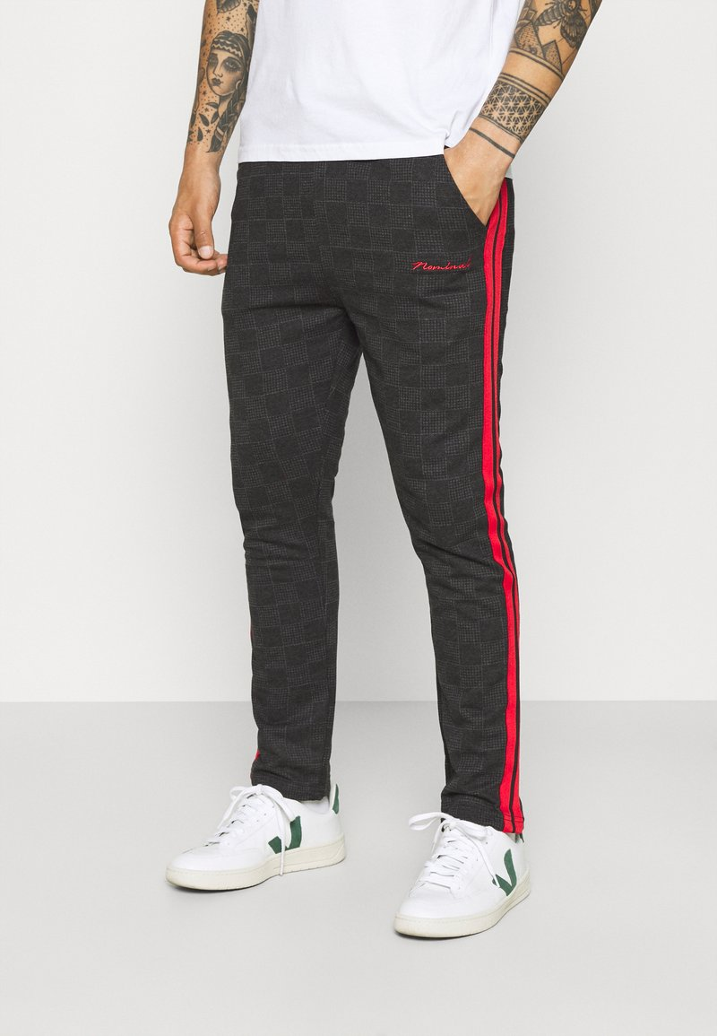 Nominal - CHECK TROUSER - Trousers - black