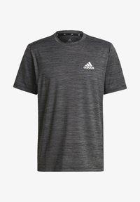 adidas Performance - M HT EL TEE - T-shirt z nadrukiem - black melange - 5