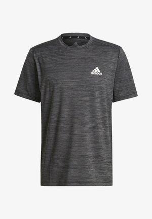M HT EL TEE - T-shirts print - black melange